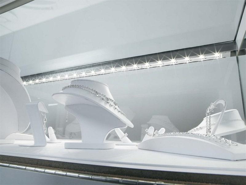Как сделать подсветку витрины светодиодной лентой