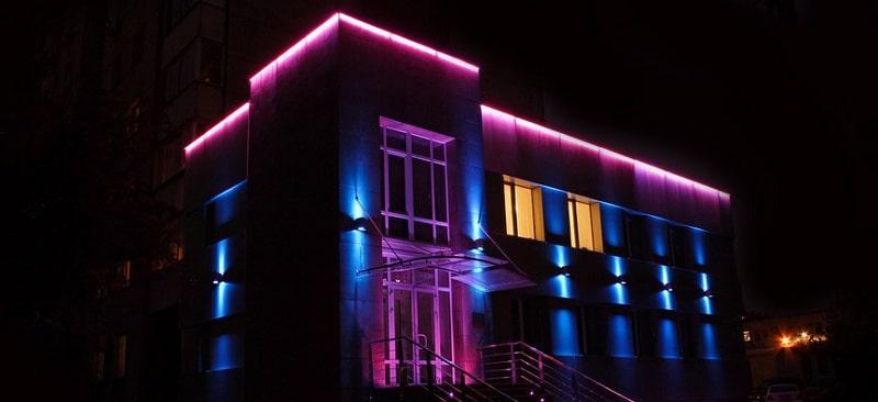 Применение светодиодной ленты для уличного освещения