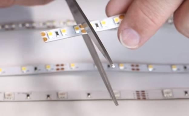 Как резать светодиодную ленту: можно ли это делать, в каком месте и как правильно
