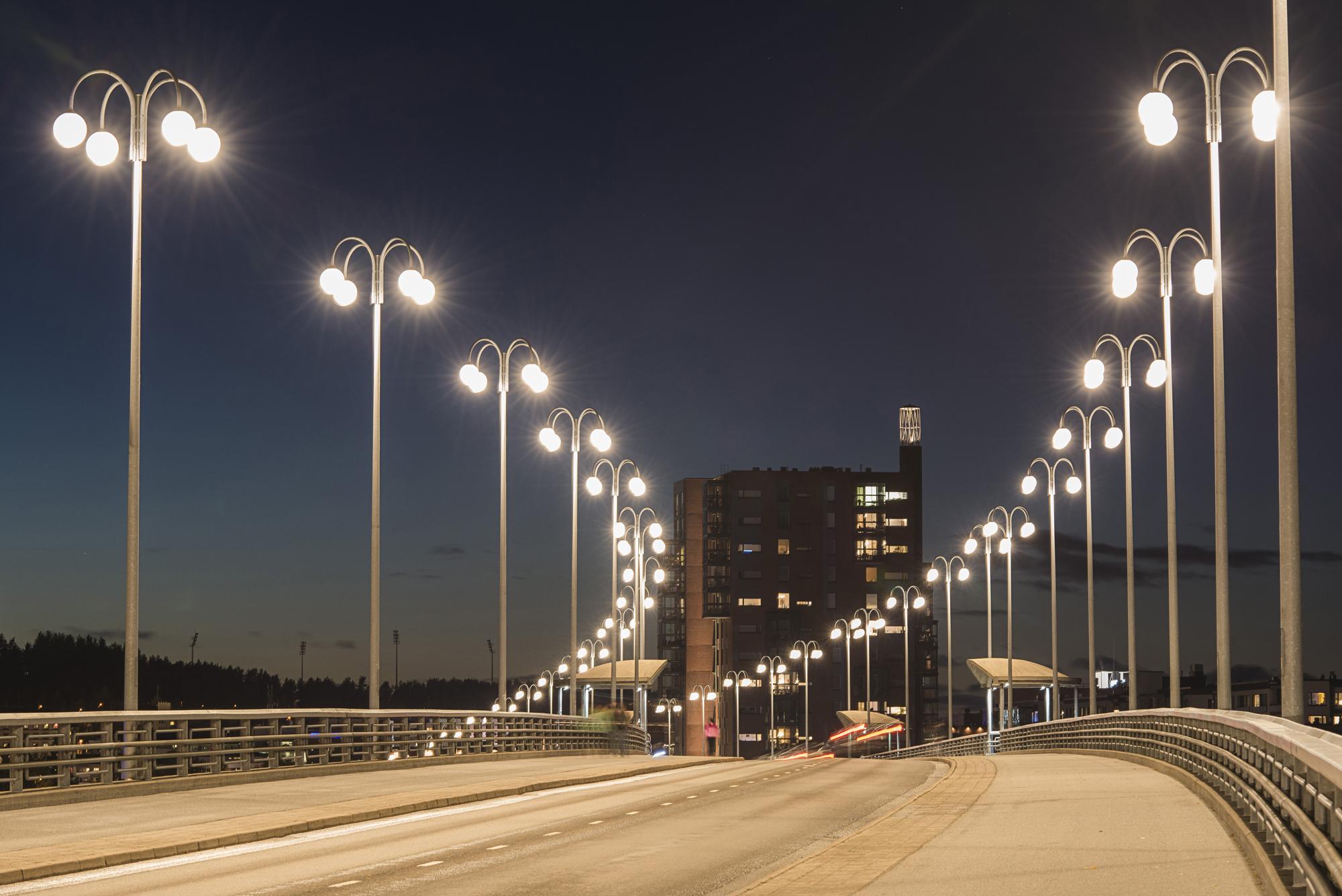 освещение дорог в населенных пунктах