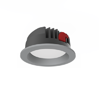 Св-к Downlight DL-PRO встр 35Вт 6500K 183*80мм IP65 (монт. отв. 160-175мм) серый RAL7045
